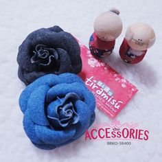 BRAND NEW FROM SOUTH KOREA  Light Denim Rose (BRKO-5R400)  Colour (Quantity):- Black (1); Blue (1)  Sale 4 U $10 - only payment through Bank Transfer (With FREE SingPost AM Mail within Singapore). You can buy it at our website! More info at http://theaccessories.co/product/brko-5r400  #women #hair clips #korea #new #hand-made #girl #ladies #jean #denim #rose #blue #elegant #fabric #black