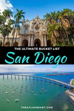 The ultimate travel bucket list for the best things to do in San Diego, California. This in-depth post goes through the best San Diego attractions so you can plan the right San Diego itinerary for you. Whether you're planning a San Diego weekend trip as a San Diego To Do, Visit San Diego, San Diego Vacation, San Diego Travel, San Diego Attractions, San Diego Hotels, California Vacation, California California, Ultimate Travel