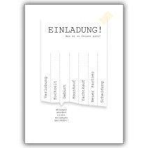Coole Einladungskarte zum Ankreuzen: Verlobung, Hochzeit, Geburt, Hauskauf…