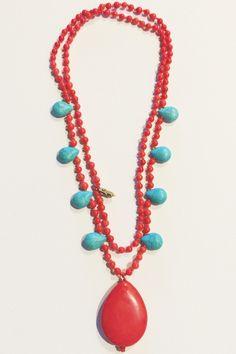 Turquoise Fringe Pendant by AdaGJewels on Etsy https://www.etsy.com/listing/233897685/turquoise-fringe-pendant