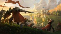 Fantasy Battle, Medieval Fantasy, Fantasy Art, Kopp Fantasy, Medieval Battle, Art Battle, Fantasy Knights, Medieval Europe, Heroic Fantasy
