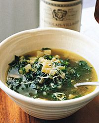 Swiss chard, spinach, celery—this soup is a veritable sea of greens. Potatoes, pasta, and Parmesan give it substance and, along with the fennel, a d...