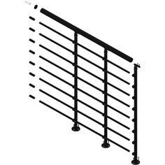 Shop DOLLE 39-1/2-in Metal Landing banister and railing at Lowes.com