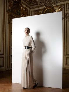 Lanvin clean belted chiffon
