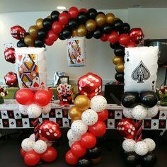Casino balloon theme