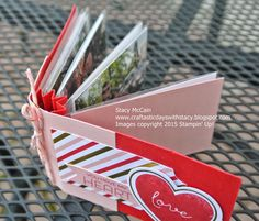 Craftastic Days with Stacy: January 2015 Paper Pumpkin - Filled With Love; #paperpumpkin; #stampinup; Mini book