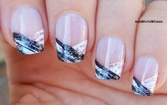 DIY Easy Nail Art Tutorial - Nail Designs For Beginners Too! I'm not a pro, and I learn always new designs and my head is full with 'H. Nail Art Hacks, Nail Art Diy, Easy Nail Art, Cool Nail Art, Diy Nails, Manicure Ideas, Nail Ideas, White Manicure, French Manicure Nails