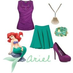 "Meet Ariel: The Little Mermaid Inspired Outfits.... | ""Beauty is being the best possible version of yourself on the inside and out"""