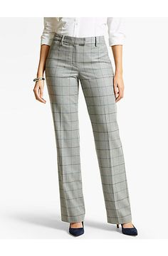 ee371d56a9 Talbots Windsor Pant - Italian Flannel Windowpane - Talbots Classic  Outfits