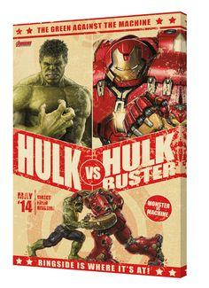 'Avengers - Hulk Vs. Hulk Buster' Framed Graphic Art on Wrapped Canvas