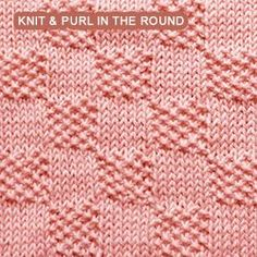 Intermediate Knitting Combining Knit And Purl Stitches : Tumbling Moss Blocks. Beautiful square and both sides look exactly the same. ...