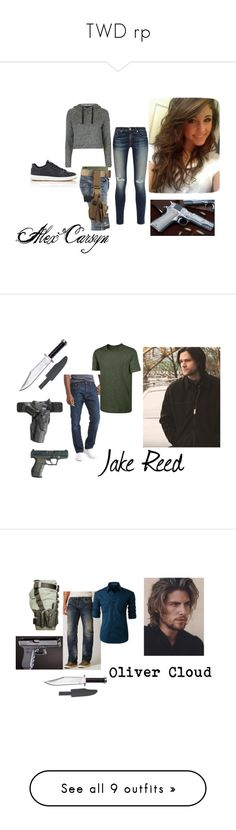 """TWD rp"" by lillypaws on Polyvore featuring Topshop, rag & bone, NIKE, Gap, men's fashion, menswear, Affliction, LE3NO, Whetstone Cutlery and Caterpillar"