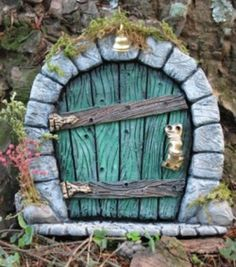 ♧ Charming Fairy Cottages ♧ garden faerie gnome & elf houses & miniature furniture - Fairy House Door
