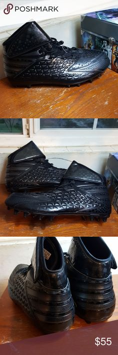 ADIDAS BLACK Football  Cleats ATHLETIC  Shoe S 17 New with out tags   Store display and have been tried on .  Clean inside out.   Non smoking environment adidas Shoes Athletic Shoes