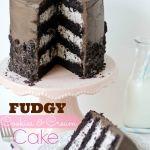 Fudgy Cookies and Cream Cake