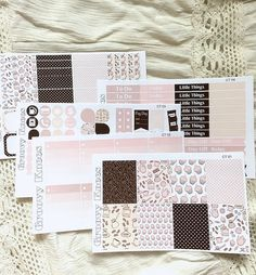 Coffee Time Weekly Kit for the Vertical Erin Condren Life Planner