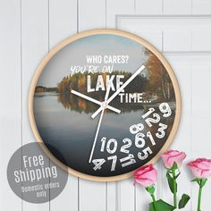Personalized Solid Oak Clock Anniversary Gift For Couple Blissful Bouquet by Story Cabin