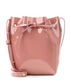 Mini Mini pink patent leather bucket bag