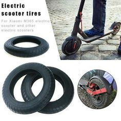 Electric Scooter Outer Tires for Xiaomi Scooter Pro 10 Inch Rubber Tires Scooter Storage, Tubeless Tyre, Rubber Tires, Electric Scooter, Ebay, Outdoor, Outdoors, Outdoor Games, The Great Outdoors