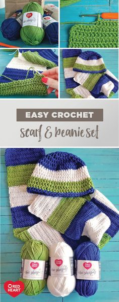 Looking for a craft to try out with your son this winter? Find one that's full of bright, happy colors and is the epitome of cozy with this tutorial for an Easy Crochet Scarf & Beanie Set for Boys! Using Red Heart Chic Sheep Yarn by Marly Bird, you can bet that whoever you make this soft-to-the-touch, merino wool set for, they will be warm and toasty all season long. Even beginners will love putting their crochet skills to good use thanks to this trusted, high-quality yarn.