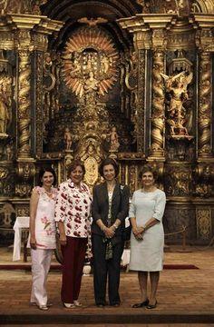 Queen Sofia visits Yaguaron Church in Paraguay
