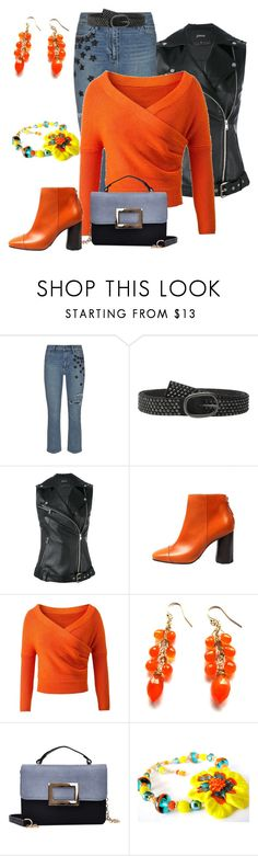 """Autumn Orange"" by belladonnasjoy ❤ liked on Polyvore featuring Paige Denim, COWBOYSBELT and Jitrois"