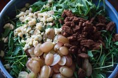 Red Grape, Blue Stilton Salad, #wintersalad, #colstonbassettstilton, #bluecheeserecipes, #spicynuts