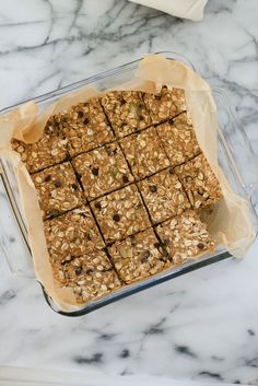 Pumpkin Seed and Chocolate Chip Oatmeal Breakfast Bars