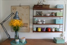 More shelving ideas by String. Home Office, String Regal, String Shelf, Interior Inspiration, Interior Ideas, House Rooms, My Dream Home, Decoration, Floating Shelves