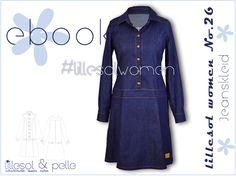 Ebook / Schnittmuster lillesol women No.26 Jeanskleid