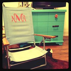 Monogrammed Beach Chair! IN LOVE WITH THIS