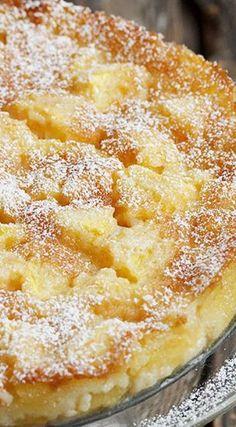 ♔ Peaches and Cream Cake