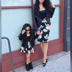 Can't get over how cute these mommy daughter outfits are