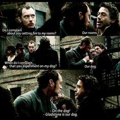 "Jude Law and Robert Downey Jr., ""Sherlock Holmes,"" (2009)."