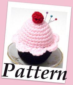 Cupcake pincushion Crochet PDF pattern