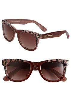 Betsey Johnson 'Retro - Leopard' Sunglasses available at #Nordstrom