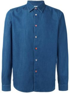 PS BY PAUL SMITH button detail denim shirt. #psbypaulsmith #cloth #셔츠