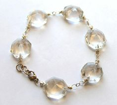 Small crystals from old chandler  makes a new bracelet for you