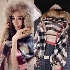New 2014 bhome fashion Women winter wool cloak wool coat overcoat fur collar cloak woolen outerwear cape long coats women thick