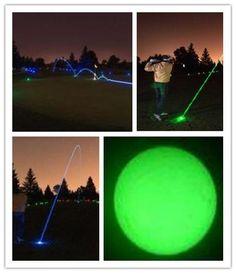 Wholesale Golf Fluorescent ball Luminous Golf Balls for night golf exercise