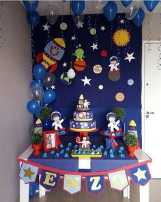 New Party Planning Ideas Kids Decoration Ideas Diy Party Decorations, Birthday Decorations, Astronaut Party, Outer Space Party, 2nd Birthday Party Themes, Festa Party, Party Planning, First Birthdays, Space Theme