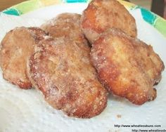 Apple Fritters ~ Wheatless Buns (gluten free, low carb, sugar free) Other Pinner said: Holy Moly! Low Carb Deserts, Low Carb Sweets, Gluten Free Sweets, Sugar Free Desserts, Sugar Free Recipes, Apple Fritters, Pub, Low Carb Breakfast, Foods With Gluten