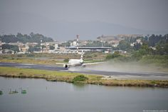 AEGEAN A rainy day of August in Corfu Ioannis Kapodistrias (Capodistrias) International Airport (IATA: CFU, ICAO: LGKR)