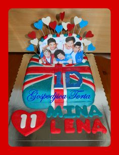 One Direction Cake thats so sweet ;*