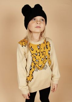 Mini Rodini Snow leopard sweater. Available to buy at http://www.fromlolawithlove.com.au