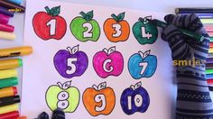 Numbers Apple To Learning Colors | Funny Activity For Kids | Smiley Kids...