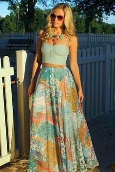 Beautiful summer long skirt and top