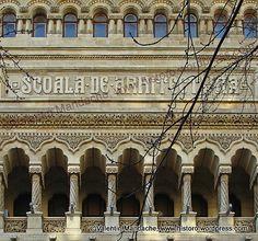 Neoromanesc. Bucharest Romania, Architectural Styles, Historic Houses, School Architecture, Historian, Buildings, Poems, Louvre, Around The Worlds