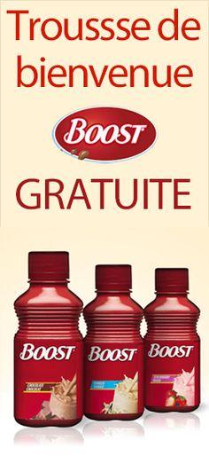 Recevez une trousse Boost gratuitement.  http://rienquedugratuit.ca/echantillon-gratuit/trousse-boost/