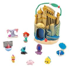 Disney Store Animator's Collection Littles Ariel Micro Doll Playset New with Box Image 2 of 3